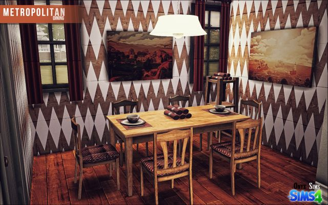 Metropolitan Dining Set by KiaraRawks