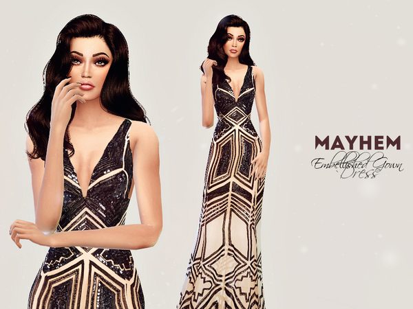 Embellished Gown Dress by NataliMayhem