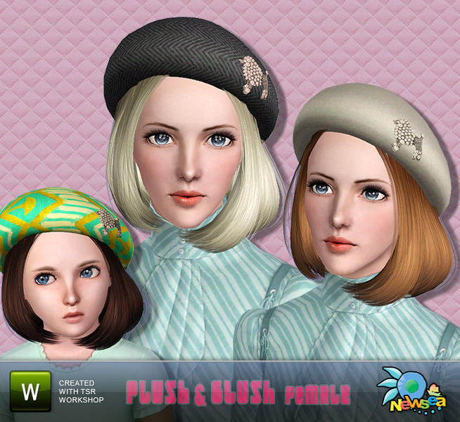 Newsea Plush & Blush Female Hairstyle + extra no jewel version