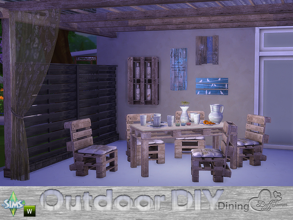 DIY Outdoor Dining by BuffSumm
