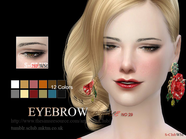 S-Club WM thesims4 Eyebrows 28F