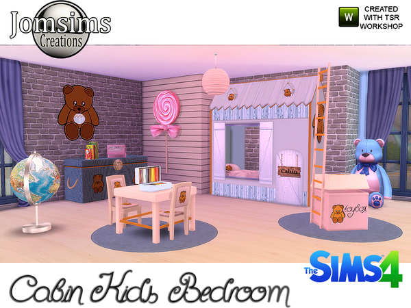 Cabin Kids bedroom by jomsims