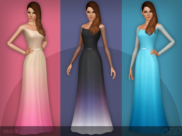 Transparent sleeves dress (031) by BEO