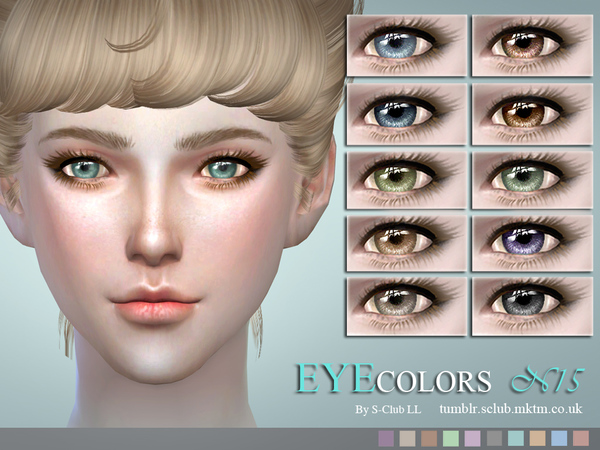 S-Club LL thesims4 eyecolors 15