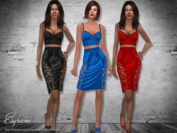 Pencil skirt _BustierTop set by EsyraM
