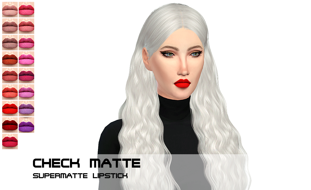Check Matte Lipstick by PorcelainWarehouse