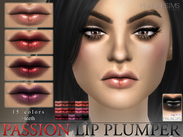 Passion Lip Plumper  N29 +Teeth by Pralinesims