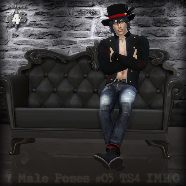 7 Male Poses #05 TS4 by IMHO