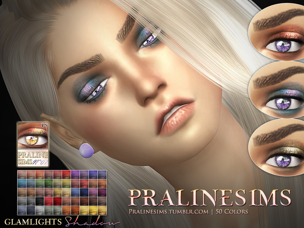 Glamlights Shadow~ 50 colors by Pralinesims