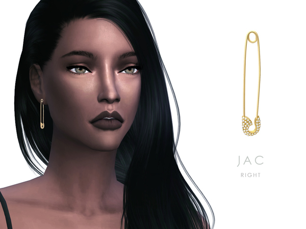 Safety Pin Earring & Necklace Set JAC by starlord