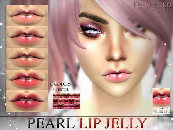 Pearl Lip Jelly  N25 +Teeth by Pralinesims