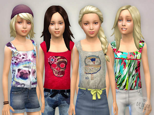 Tank Top Collection for Girls P01 by lillka