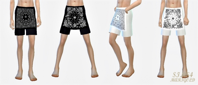 Male bandana shorts by Marigold