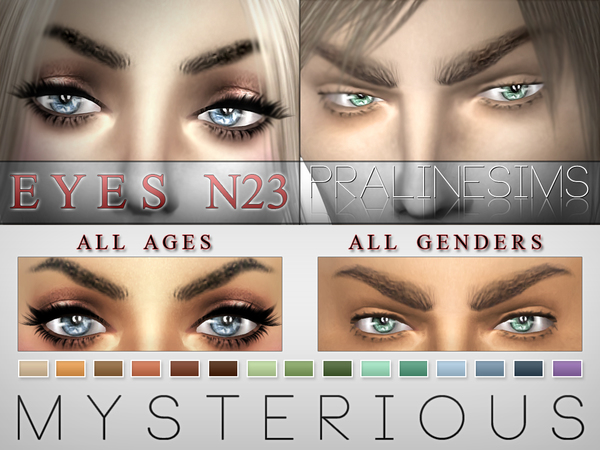 Mysterious Eyes  15 Colors / N23 by Pralinesims