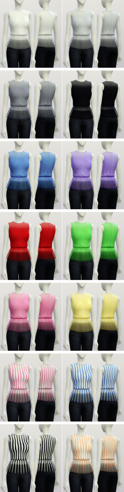 Basic Peplum Blouse by Rusty Nail