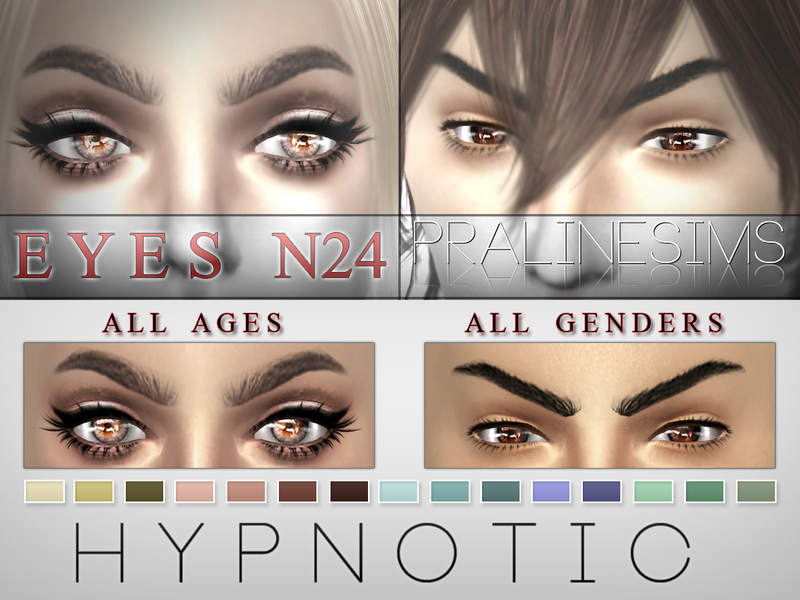 Hypnotic Eyes  15 Colors / N24  BY Pralinesims