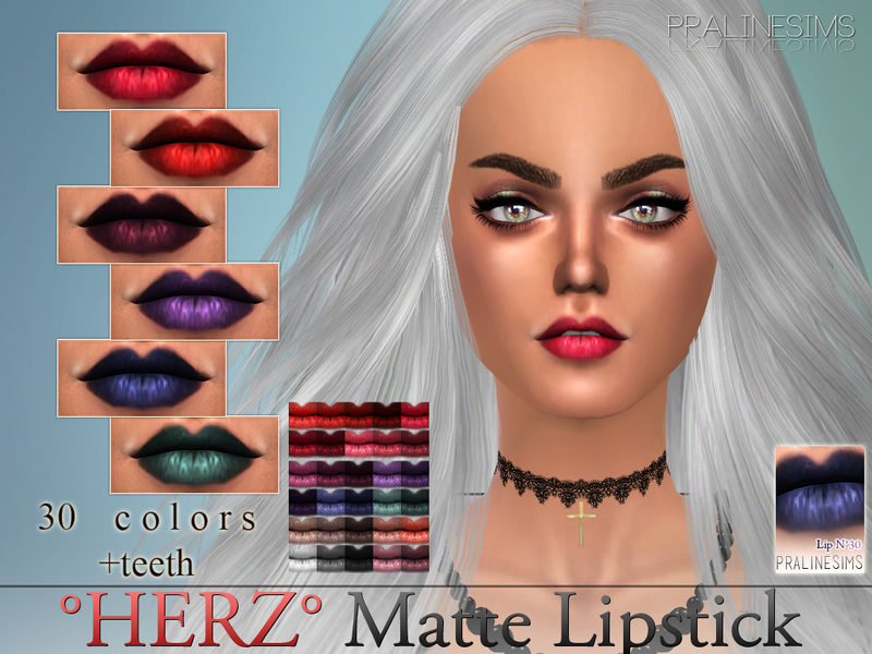 *HERZ* Matte Lipstick  N30 +Teeth  BY Pralinesims
