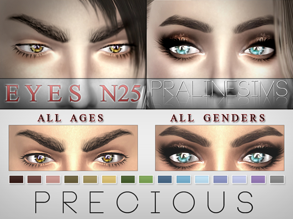 Precious Eyes  15 Colors / N25 by Pralinesims