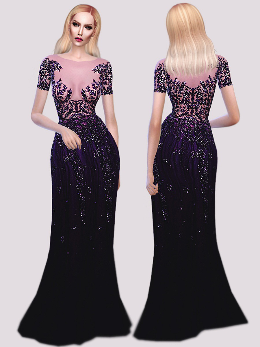 Zuhair Murad Purple Gown by FashionRoyaltySims