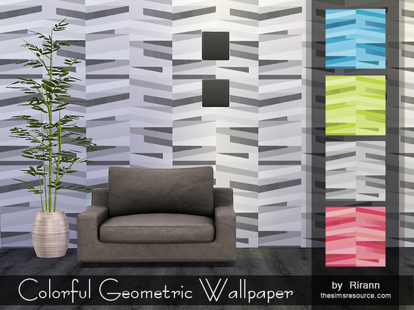 Colorful Geometric Wallpaper by Rirann