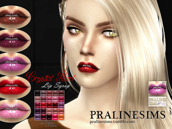 Crystal Pearl Lip Syrup (+Teeth) by Pralinesims