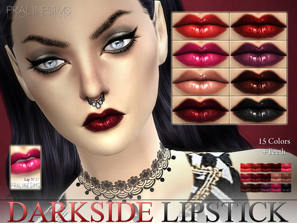 Darkside Lipstick  N27 +Teeth by Pralinesims