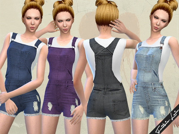 Denim Dungarees by Fritzie.Lein