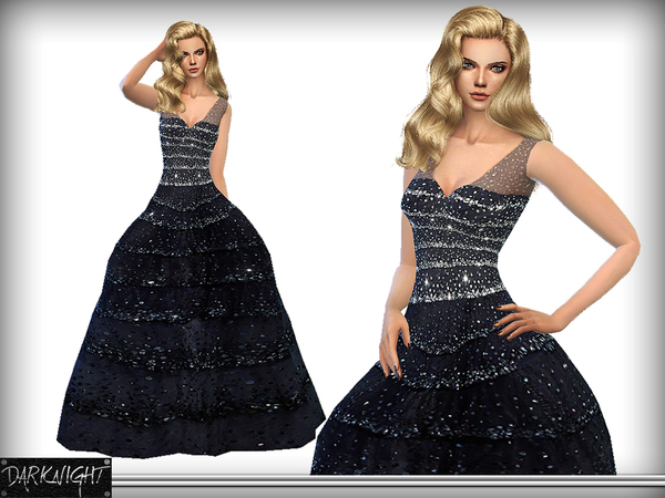 Sequin-Embellished Tulle Gown by DarkNighTt
