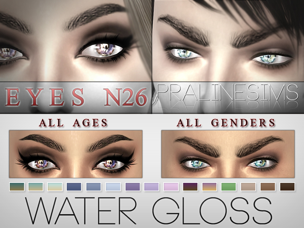 Water Gloss Eyes / 15 Colors  N26 by Pralinesims