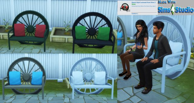 TS3 Ranch Style Love Seat Conversion by JulieJ