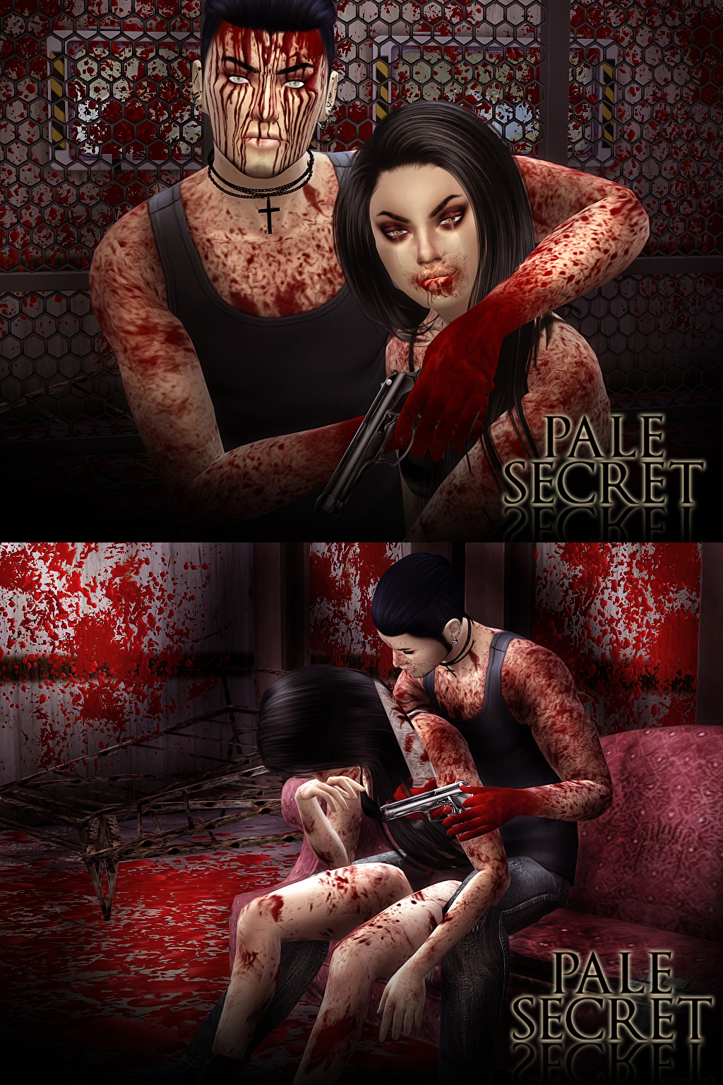 Bloody Makeup, Eyes and More by PralineSims