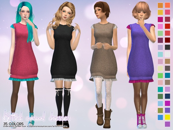 Knitted casual dresses by Aveira