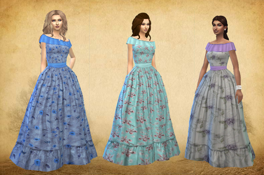 Civil War Fashion Dresses with 10 Color Options for Teen - Elder Females by Kiara24