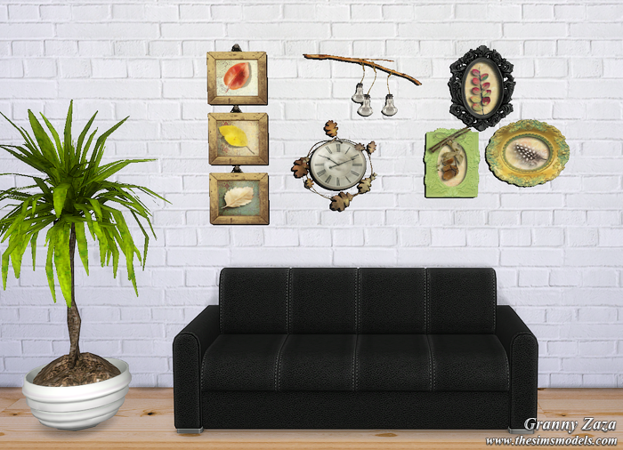 Wall Stickers for TS4 by Granny Zaza