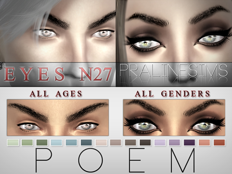Poem Eyes  15 Colors / N27  BY Pralinesims