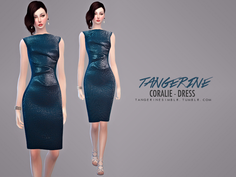 Coralie - Dress BY tangerinesimblr