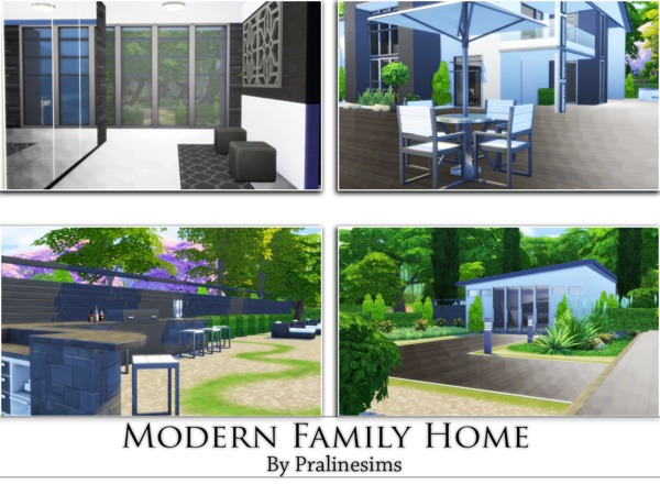 Modern Family Home by Pralinesims