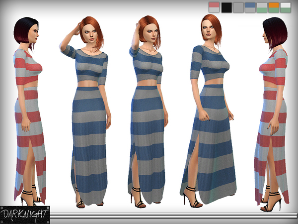 Stripped Beach Dress by DarkNighTt