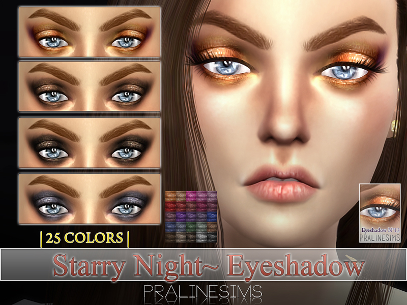 Starry Night Eyeshadow  N13  BY Pralinesims