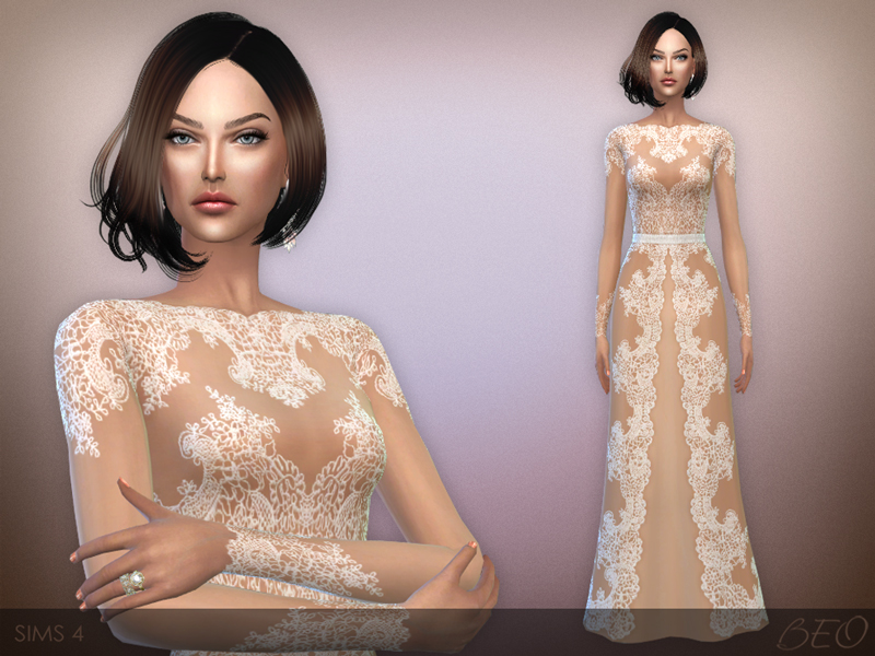 Long Lace Dress by BEO