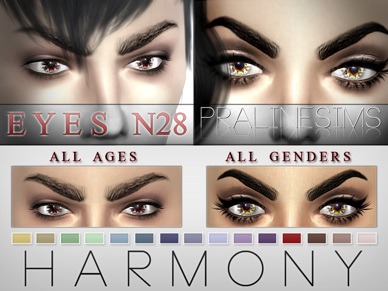 Harmony Eyes  15 Colors / N28 BY Pralinesims