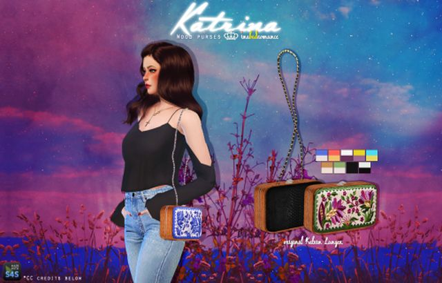 Katrina Wooden Purses - Accessory & Decorative by Inabadromance