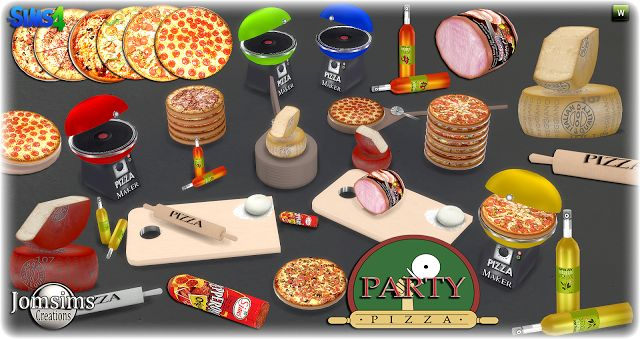 Pizza Party Decorative Food Set by JomSims
