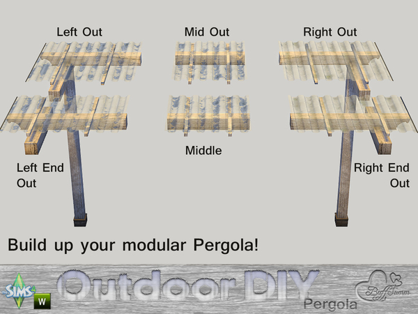 DIY Modular Pergola by BuffSumm