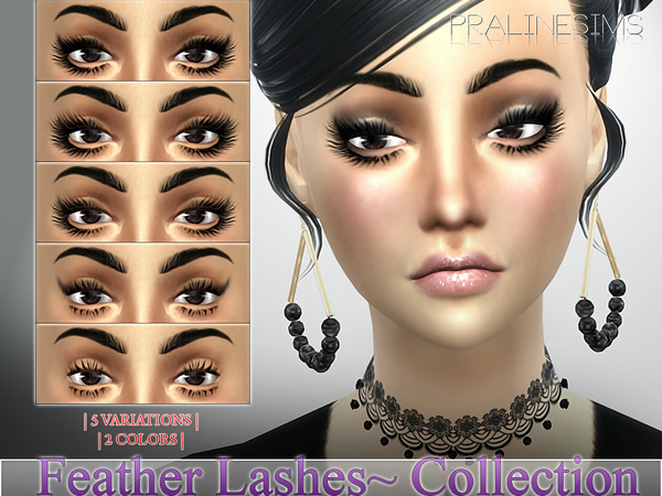 Feather Lashes Collection  N17 by Pralinesims