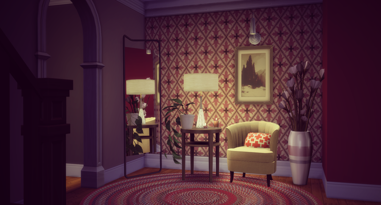 Awesims SF End Table and Lamp by Simsza