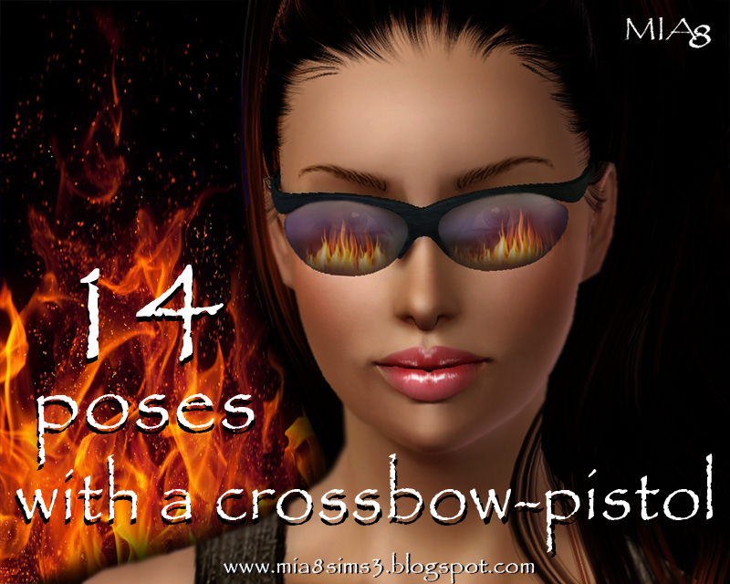 14 poses with a crossbow-pistol by Mia8