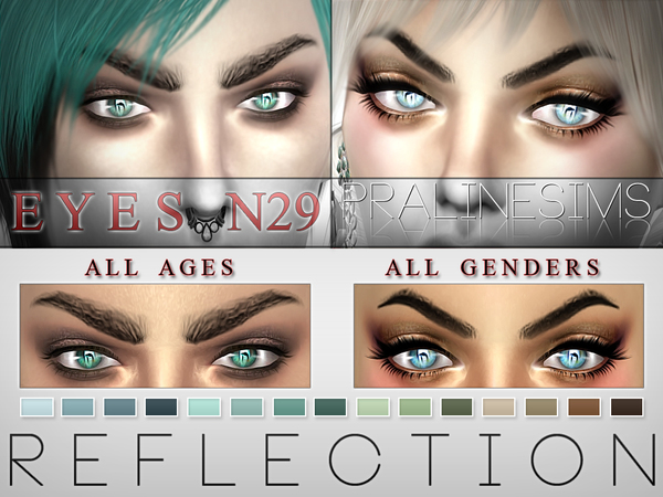 Reflection Eyes  15 Colors / N29 by Pralinesims