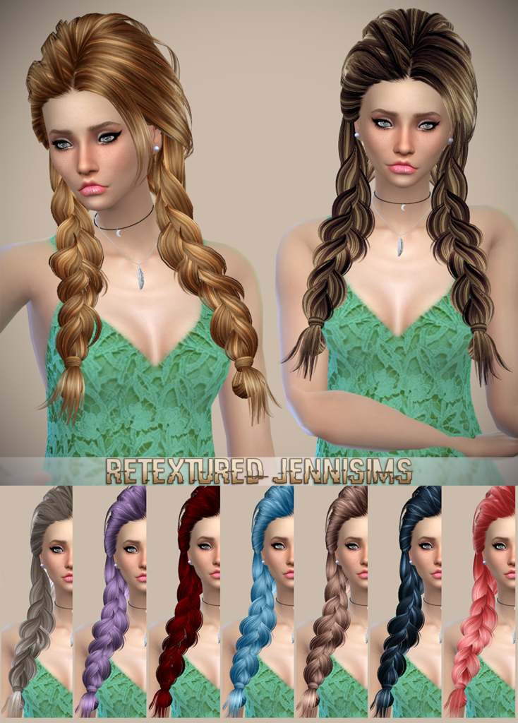 Butterflysims 142 Hair Retexture by JenniSims