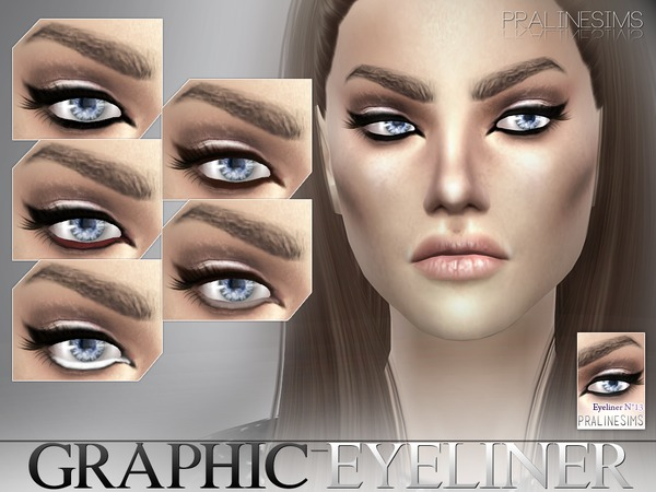 Graphic Eyeliner by Pralinesims